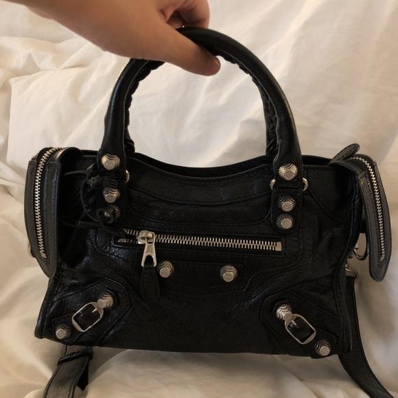 7f365496bb Balenciaga Handbags - balenciaga Classic Silver Nano City Black